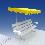 Free Standing Bench With Umbrella