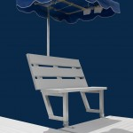 Off Set Bench With Umbrella